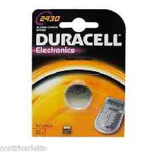 BATTERIA PILA BOTTONE DURACELL 2430 DL2430 CR2430