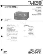 Sony Original Service Manual für TA-H 2600