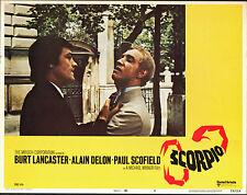 SCORPIO original 1973 lobby card ALAIN DELON/WILLIAM SMITHERS 11x14 movie poster