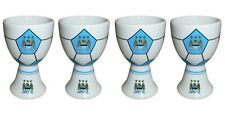 4 x Man City Egg Cups - Official Manchester City Egg Cups - Football Gift