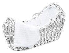 White Pod Moses Basket With Honeycomb Dressing