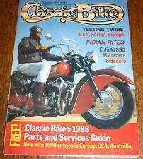 Classic Bike Magazine October 1987 Testing Twins BSA, Norton, Triumph etc