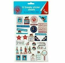 Where's Wally Assorted Sneaky Stickers, 8 Sheets