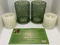 Joy Mangano Forever Fragrant Flameless Candle Set - Seaside Spa Fragrance New