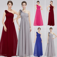 Flower One Shoulder Long Maxi Bridesmaids Evening Party Dress Homecoming Dresses