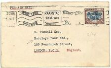 AC23 1945 SOUTH AFRICA AIRMAIL 2s/6d Cape Town Barclays Bank Ltd London GB Cover