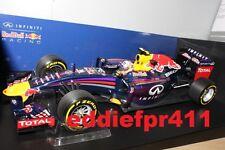 **SALE** 1/18 2014 DANIEL RICCIARDO INFINITI RED BULL RACING F1 RB10 MINICHAMPS