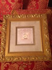 Three Inch Gold Wall Decor Frames With Flower Center Pictures