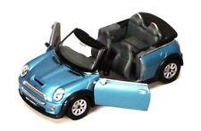 "New 5"" Kinsmart Mini Cooper S Convertible Diecast Model Toy Car 1:28 BLUE"