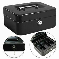 Security Box Fire Proof Lock Safe Storage Cash Money Gun Jewelry Portable Safety