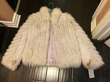 Vintage late 70s' SAGA FOX FUR COAT NORWEIGAN BLUE FOX JACKET new w/tags - Small