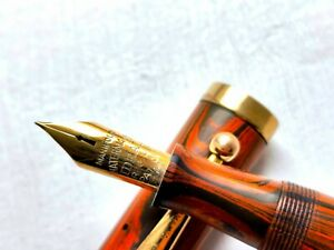 Vintage Waterman 56 fountain pen in rare Woodgrain hard rubber  - Huge 14cm!