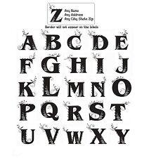 30 Return Address Labels Alphabet Monogram Floral Buy 3 get 1 free (Fl5)