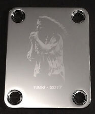 GUITAR NECK PLATE Custom Engraved Etched - CHRIS CORNELL - CHROME