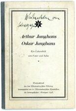 Seltener Sonderdruck:Oskar Junghans über seinen Vater Arthur Junghans 1928.Uhren