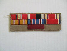 WWII USN US Navy Ribbon Grouping Embroidered Uniform Theater Made Medal Bars