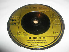 """MAC AND KATIE KISSOON """" THE TWO OF US """" 7"""" SINGLE 1976 VERY GOOD"""
