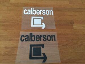 CALBERSON PATCH FLOCAGE FOOTBALL VINTAGE NOIR OU BLANC - 11 CM PAR 8 CM