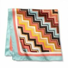 "MISSONI Target Colore Zig Zag Square Silk Scarf 28"" x 28"" Limited Edition NWT"