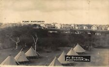 "BROWNSVILLE, TEXAS ""FT. BROWN-WW1 ERA"" RPPC REAL PHOTO POSTCARD"