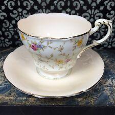 Beautiful 1940s Paragon Comtesse Peach Floral Chintz Tea Cup Teacup & Saucer Set
