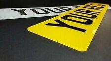 Pair of Plain Standard MOT UK Road Legal Car Van Reg Registration Number Plates