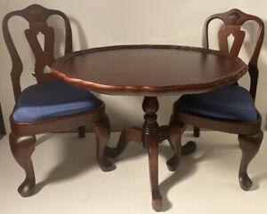 American Girl Doll Felicity Tilt Top Table & Chair Set Retired Pleasant Company