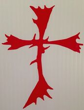 "Antler Cross Truck Vinyl Decal 5"" Jesus Camo Elk Muddy Country Pride Deer Girl"