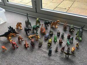 Bundle of 42 toy dinosaurs various sizes