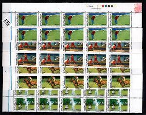 // 10X ROMANIA 2002 - MNH - GOLF, POLO, HORSE, BASEBALL, CRICKET, SPORTS