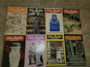 mixed lot  of 8 old bottle magazines between 1980-1982
