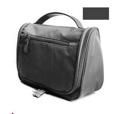 Travel Toiletry Makeup Travel Hanging Hook Wash Shower Bag Kit Case Gray zipper