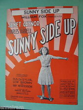 Sunny Side Up 1929 Janet Gaynor Charles Farrell by DeSylva, Brown, Henderson