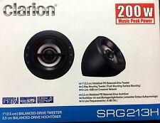 """NEW Clarion SRG213H SRG Series 1"""" Balanced-Drive Tweeter"""