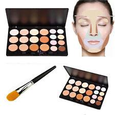 20 Colors Face Concealer Camouflage Cream Contour Palette Foundation Brush Set