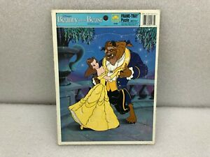 Vintage Beauty and The Beast Frame-Tray Puzzle Walt Disney Golden 4175A