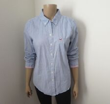 Hollister Womens Striped Button Down Shirt Size Large Blue & White