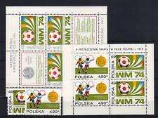 Polen 2315/16 Bl. 59+60 postfrisch / Fußball ..........