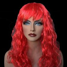 "18"" Long Red Synthetic Curly Wavy Hair Wig for Cosplay Party Fancy Dress, NEW"