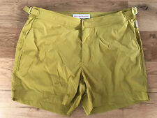"""Orlebar Brown Setter Sport Tailored Swim Shorts 32""""W Mustard In Colour New"""