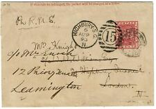 British Guiana 1893 Georgetown cancel on wrapper to England, re-directed