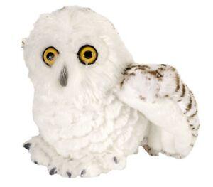 CUDDLEKINS MINI SNOWY OWL PLUSH SOFT TOY 20CM STUFFED ANIMAL BY WILD REPUBLIC