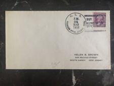 1938 US Sea Post Office Shanghai China To South Amboy NJ USA