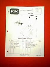 TORO S-200 SNOWTHROWER / SNOWBLOWER MODEL 38120 - 4000001 & UP PARTS MANUAL 1983