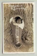 Snug As A Bug In A Rug *PAPOOSE REAL PHOTO FRASHERS FOTO 1942*