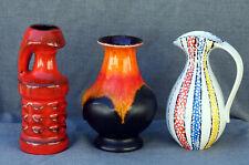 Sammlung Vasen Keramik 50er 60er Jahre __ WGP