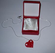 BEAUTIFUL LEGO VALENTINE DAY RED HEART - WEDDING GIFT-FRIENDSHIP-LOVE NECKLACE