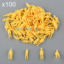 100pcs Model Train Unpainted Seated/Stand People Passengers Figures 1:75 Scale