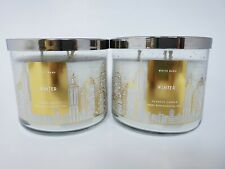 Bath & Body Works set of 2 Winter 3 Wick Candles NEW