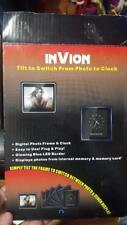 """InVion 3.5"""" Tilt Picture Frame & Clock"""